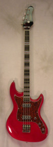 Hofner Galaxie Bass Candy Apple Red