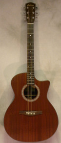Eastman AC-GA2ce All Solid Mahogany Guitar w/ Deluxe Gigbag